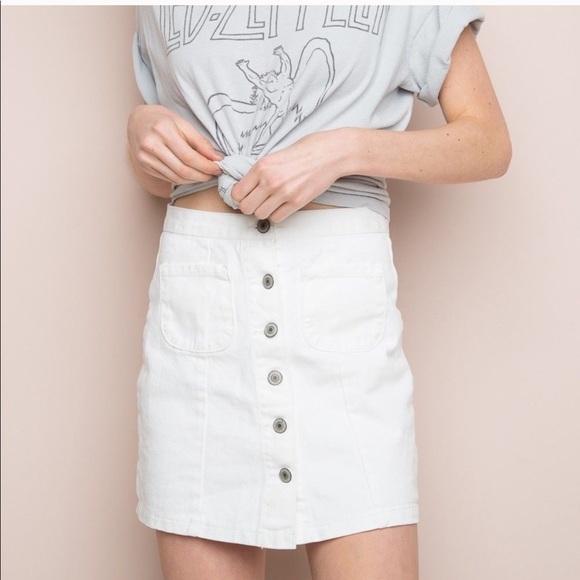 b2d15a0f6d Brandy Melville Skirts | White Denim Skirt | Poshmark